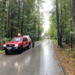 Technischer Einsatz nach starken Regenfällen
